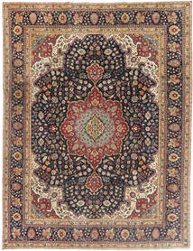 Tabriz Patina Matto 250X325 Itämainen Käsinsolmittu Vaaleanruskea/Musta Isot (Villa, Persia/Iran)