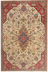 Tabriz Patina Matto 190X280 Itämainen Käsinsolmittu Vaaleanruskea/Beige (Villa, Persia/Iran)