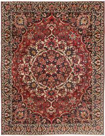 Bakhtiar Patina Matto 267X360 Itämainen Käsinsolmittu Tummanpunainen/Tummanruskea Isot (Villa, Persia/Iran)