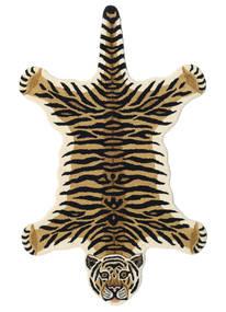 Tiger - Beige Matto 100X160 Moderni Tummansininen/Beige (Villa, Intia)