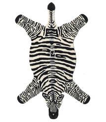 Zebra Matto 100X155 Moderni Musta/Beige (Villa, Intia)