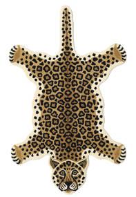 Leopard - Beige Matto 100X160 Moderni Musta/Vaaleanruskea/Beige (Villa, Intia)