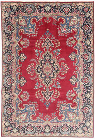 Kerman Matto 198X295 Itämainen Käsinsolmittu Vaaleanharmaa/Punainen (Villa, Persia/Iran)
