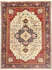 Heriz Matto 253X350 Itämainen Käsinsolmittu Tummanpunainen/Vaaleanruskea/Beige Isot (Villa, Persia/Iran)