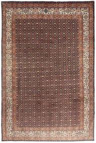 Moud Matto 193X295 Itämainen Käsinsolmittu Tummanpunainen/Tummanruskea (Villa/Silkki, Persia/Iran)