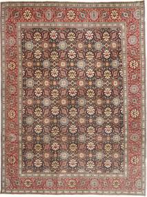 Tabriz Patina Matto 250X338 Itämainen Käsinsolmittu Tummanpunainen/Tummanruskea Isot (Villa, Persia/Iran)