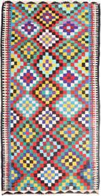 Kelim Matto 183X360 Itämainen Käsinkudottu Käytävämatto Vaaleanharmaa/Musta (Villa, Persia/Iran)