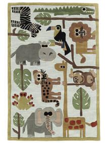 Zoo Handtufted Matto 170X240 Moderni Vaaleanharmaa/Vaaleansininen (Villa, Intia)