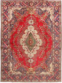 Tabriz Matto 290X395 Itämainen Käsinsolmittu Tummanpunainen/Vaaleanruskea Isot (Villa, Persia/Iran)