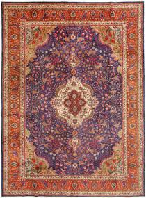 Tabriz Matto 305X410 Itämainen Käsinsolmittu Tummanpunainen/Ruoste Isot (Villa, Persia/Iran)