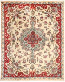 Tabriz Matto 303X388 Itämainen Käsinsolmittu Beige/Tummanruskea Isot (Villa, Persia/Iran)