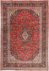 Yazd Matto 243X358 Itämainen Käsinsolmittu Tummanpunainen/Tummanruskea (Villa, Persia/Iran)