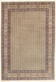 Moud Matto 195X290 Itämainen Käsinsolmittu Vaaleanharmaa/Vaaleanruskea (Villa/Silkki, Persia/Iran)