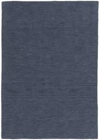 Kelim Loom - Denim Sininen Matto 140X200 Moderni Käsinkudottu Sininen (Villa, Intia)