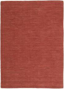 Kelim Loom - Ruoste Matto 160X230 Moderni Käsinkudottu Tummanpunainen (Villa, Intia)