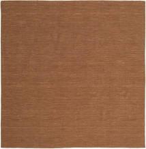Kelim Loom - Ruskea Matto 250X250 Moderni Käsinkudottu Neliö Ruskea Isot (Villa, Intia)