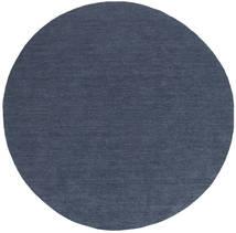 Kelim Loom - Denim Sininen Matto Ø 300 Moderni Käsinkudottu Pyöreä Sininen Isot (Villa, Intia)