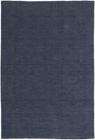 Kelim Loom - Denim Sininen Matto 300X400 Moderni Käsinkudottu Tummansininen/Sininen Isot (Villa, Intia)