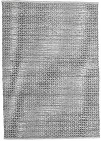Alva - Harmaa/Musta Matto 160X230 Moderni Käsinkudottu Vaaleanharmaa/Tummanharmaa (Villa, Intia)