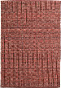 Alva - Dark_Rust/Musta Matto 160X230 Moderni Käsinkudottu Tummanpunainen/Tummanruskea (Villa, Intia)