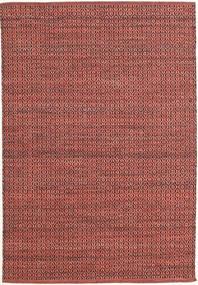 Alva - Dark_Rust/Musta Matto 140X200 Moderni Käsinkudottu Tummanpunainen/Ruoste (Villa, Intia)