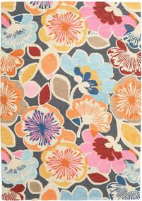 Flower Power - Multi Matto 160X230 Moderni Vaaleanpunainen/Tummanharmaa (Villa, Intia)