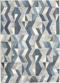 Ziggyn - Harmaa/Sininen Matto 160X230 Moderni Vaaleanharmaa/Tummanbeige (Villa, Intia)