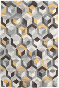 Cube - Harmaa/Kulta Matto 200X300 Moderni Vaaleanharmaa/Tummanharmaa (Villa, Intia)