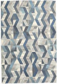 Ziggyn - Harmaa/Sininen Matto 200X300 Moderni Tummanbeige/Sininen (Villa, Intia)