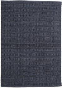 Alva - Sininen/Musta Matto 140X200 Moderni Käsinkudottu Tummansininen/Violetti (Villa, Intia)