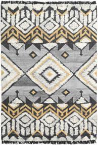 Deco Matto 160X230 Moderni Käsinkudottu Vaaleanharmaa/Tummanbeige (Villa, Intia)
