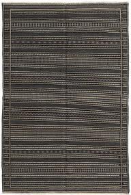 Kelim Matto 156X230 Itämainen Käsinkudottu Tummanharmaa/Musta (Villa, Persia/Iran)