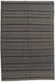 Kelim Matto 161X238 Itämainen Käsinkudottu Tummanharmaa/Musta (Villa, Persia/Iran)