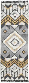 Deco Matto 80X250 Moderni Käsinkudottu Käytävämatto Vaaleanharmaa/Tummanharmaa (Villa, Intia)