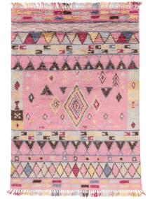 Fanny Matto 200X300 Moderni Käsinsolmittu Vaaleanpunainen/Vaaleanharmaa (Villa, Intia)