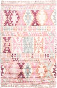 Märta - Roosa Matto 200X300 Moderni Käsinsolmittu Vaaleanpunainen/Beige (Villa, Intia)