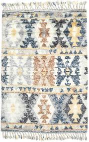 Märta - Sininen Matto 120X180 Moderni Käsinsolmittu Beige/Vaaleanharmaa (Villa, Intia)