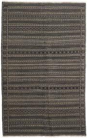 Kelim Persia Matto 160X230 Itämainen Käsinkudottu Musta/Tummanharmaa (Villa, Persia/Iran)