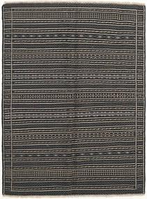 Kelim Matto 152X204 Itämainen Käsinkudottu Tummanharmaa/Musta/Vaaleanharmaa (Villa, Persia/Iran)