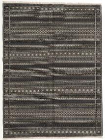Kelim Matto 155X210 Itämainen Käsinkudottu Tummanharmaa/Musta (Villa, Persia/Iran)