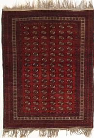 Afghan Khal Mohammadi Matto 134X180 Itämainen Käsinsolmittu Tummanpunainen (Villa, Afganistan)