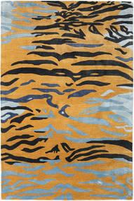 Love Tiger - Oranssi/Harmaa Matto 200X300 Moderni Vaaleanruskea/Musta ( Intia)