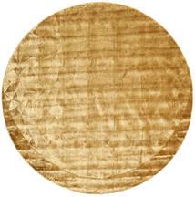 Crystal - Kulta Matto Ø 250 Moderni Pyöreä Keltainen/Beige/Vaaleanruskea Isot ( Intia)