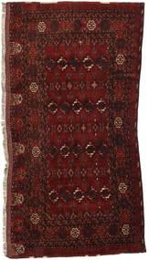 Afghan Khal Mohammadi Matto 92X189 Itämainen Käsinsolmittu Tummanpunainen (Villa, Afganistan)