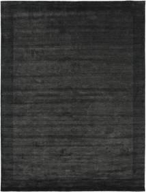 Handloom Frame - Musta/Tummanharmaa Matto 200X300 Moderni Tummanharmaa/Tummanvihreä (Villa, Intia)