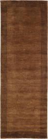 Handloom Frame - Ruskea Matto 80X250 Moderni Käytävämatto Tummanruskea/Ruskea (Villa, Intia)