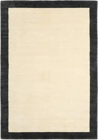 Handloom Frame - Musta/Valkoinen Matto 160X230 Moderni Beige/Musta (Villa, Intia)