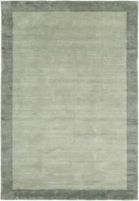 Handloom Frame - Harmaa/Vihreä Matto 160X230 Moderni Vaaleanvihreä/Pastellinvihreä (Villa, Intia)