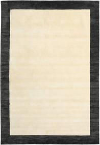 Handloom Frame - Musta/Valkoinen Matto 200X300 Moderni Beige/Tummanharmaa (Villa, Intia)