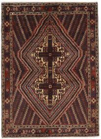 Afshar Shahre Babak Matto 142X196 Itämainen Käsinsolmittu Tummanruskea/Tummanpunainen (Villa, Persia/Iran)